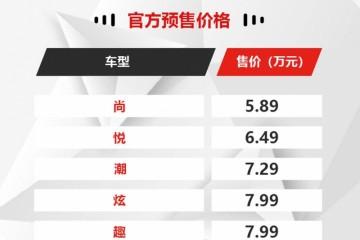 搭载双大屏/供给1.5自吸动力凯翼炫界预售5.89万起
